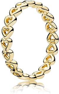 PANDORA Linked Love 18k 镀金闪耀系列戒指
