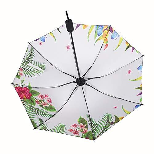 Taschenschirme, Folding Regenschirm, Anti-UV Sonnenschirm Damen Sonnenschirme Mini-Kompaktschirm, Handtasche Der Frauen Im Freien Wandern Strand-Regenschirm-Licht-Gewicht Reisen Sonne Regen Regenschir