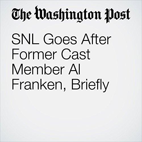 SNL Goes After Former Cast Member Al Franken, Briefly copertina