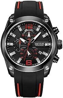 ميجير ساعة يد رجالية انالوج بعقارب ، سيليكون ،MN2063G-BK-1