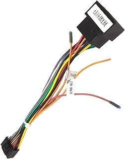 Cable Adaptador de 16 Pines a ISO para Android Radio de Coche, Enchufe Estándar ISO con Líneas de Control del Volante y Lí...