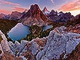 1000 Piezas De Rompecabezas De Papel De Madera para Adultos, Niños, Lago Educativo En Los Alpes, Juguete Educativo para Niños Y Adultos, Montaje De Madera