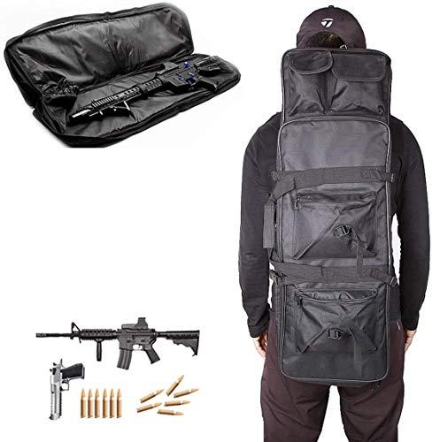 LXNQG Funda de Rifle de Caza, Caja de Pistola Resistente al Agua Rifle Bolsa de Pistola de Tiro Bolsa de Almacenamiento Bolsa de Caza Padded, 118 cm