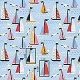 11,99€/m Schiff Boot Pirat 100% Baumwolle Baumwollstoff