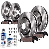 Detroit Axle - All (4) Front and Rear Disc Brake Kit Rotors w/Ceramic Pads & Brake Kit Cleaner & Fluid for 2006-12 Ford Fusion - [2007-12 Lincoln MKZ] - 2006-13 Mazda 6 - [2006-11 Mercury Milan]