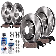 Fits: Specific Models - Check Fitment Chart and Product Description for Accurate Information Kit Includes: 2x Front Disc Brake Rotors + 2x Rear Disc Brake Rotors + 2x Front Ceramic Brake Pads + 2x Rear Brake Pads + 2x Brake Cleaner & Fluid PREMIUM CE...