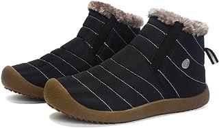 Walory Botas de Nieve - Botas de Nieve Antideslizantes Resistentes Al Agua para Exteriores Calzado Sin Cordones de Inviern...