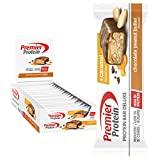 Premier Protein Bar Deluxe Chocolate Peanut Butter 18x50g - High Protein Low Sugar + Kohlenhydratreduziert -