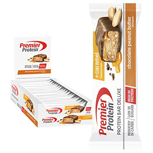 'Premier Protein Bar Deluxe Chocolate Peanut Butter 18x50g - High Protein Low Sugar + Reduced Carbohydrate'
