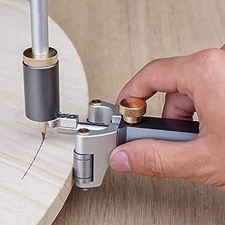 مسطرة سكريبر متعددة الأغراض للأعمال الخشبية رسم خط موازي أداة قياس أداة القياس DIY النجارة أدوات الرسم (عدد القطع: 1 قطعة)