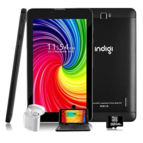 Indigi 7 pulgadas de fábrica GSM desbloqueado 4G LTE TabletPC y teléfono Android 9.0 Pie (+ paquete incluido)