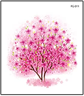 Roze zeemeermin vlinder tijdelijke tattoo sticker meisje arm sleutelbeen-J