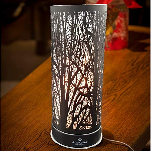 Aqualina Aroma Touch Lamp Black - Metal Wax Melt Warmer - Electric Oil Burner - Oil and Wax Melt Fragrance Burner