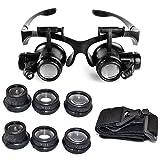 Starcrafter 10x 15x 20x 25x Gafas de ojo de lupa lupa LED de joyero para...