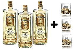 GOLDWASSER LIQUEUR DANZIG DER LACHS 22 KARAT 50 CL 3 Flaschen mit 3 Glsern