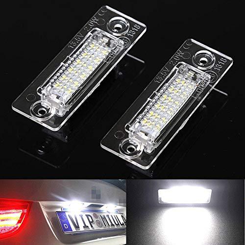 Yijueled - 2 luces LED para matrícula T5 Touran Passat Jetta Caddy 18 LED 6500k