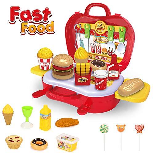 Cocina de comida rápida de juguete de BeebeeRun