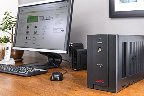 APC Back-UPS BX - BX1400UI - Gruppo di Continuità 1400VA (AVR, 6 Uscite IEC-C13, USB, Shutdown Software)