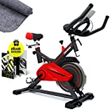 Sportstech SX100 Bicicleta Indoor; Volante de inercia 13kg; reposabrazos Acolchados, Asiento...