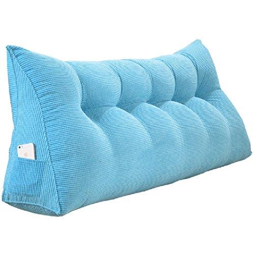 ASF15 - Cojín de cuña Triangular Grande para sofá o Cama, con Funda extraíble, 6 Colores, 8 tamaños, Felpa, Morado, 135 cm