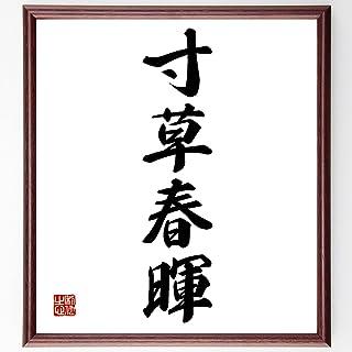 四字熟語書道色紙「寸草春暉」額付き/受注後直筆(Z6381)