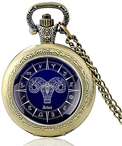 WYDSFWL Collar Christ Cross Puedo Hacer Todo a través de un Reloj de Bolsillo de Cuarzo único Vintage para Hombres, Mujeres, Collar Colgante, Horas, Reloj, Regalos