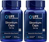 Life Extension, Strontium Caps, Mineral for Bone Health, 750 mg, 90 Veggie Caps - 2pc