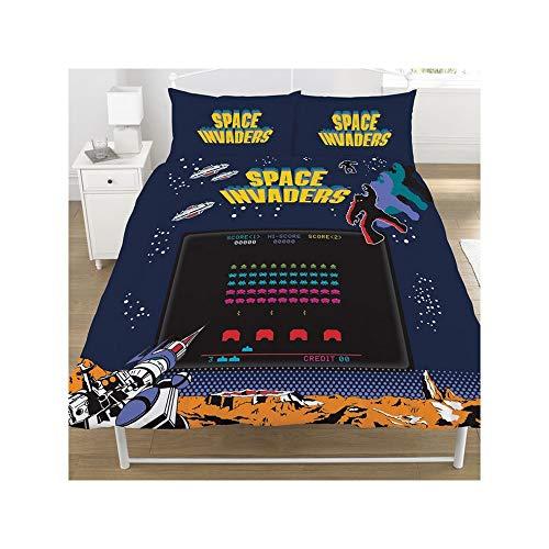 Space Invaders - Juego de Cama diseño Coin Op del Videojuego (Doble) (Multicolor)