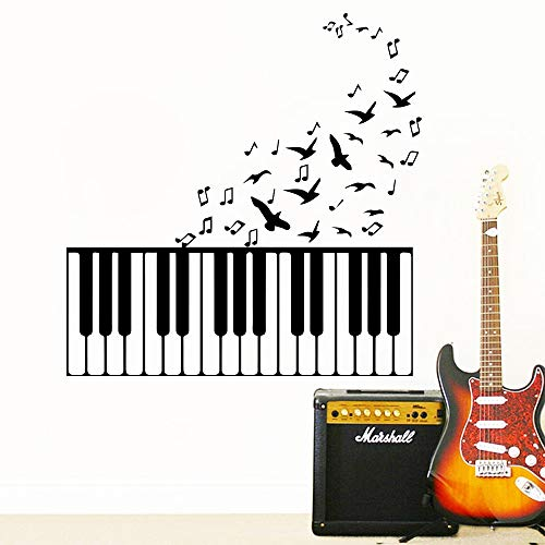 ganlanshu Kinder mädchen Klassische Musik Klavier wandaufkleber Schlafzimmer Dekoration entfernbare raumdekoration Vinyl wandaufkleber 58 cm X 59 cm