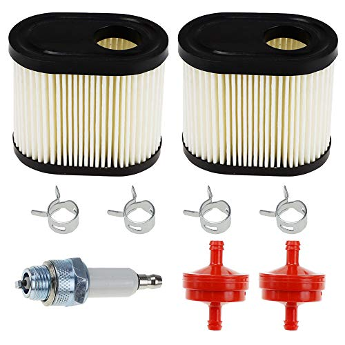 36905 Air Filter Replacement with Spark Plug, Fuel Filter, Clips for Tecumseh 740083A fit AH600 AV600 LEV115 LEV120 Toro 20016 20017 20018 6.75HP 22 inch Recycler Parts Craftsman Lawn Mower