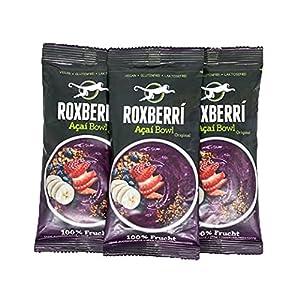ROXBERRI® Acai Bowl Multipack - 12 x 150g Acaí pure - 12 paquetes de batido de bayas de Acai - Superfood de Brasil - preparación más rápida que el polvo de Acai