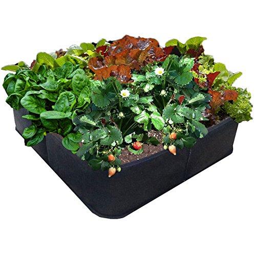 Victory 8 Garden 2 ft X 2 ft Green Gardening Raised Bed, AeroFlow Fabric Pot EZ-GRO Square