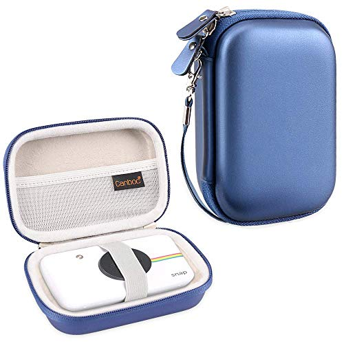 Canboc Hard Carrying Case for Zink Polaroid Snap/Snap Touch Portable Instant Print Digital Camera, Mesh Pocket for Polaroid 2x3ʺ Photo Paper, Smooth Double Zipper Protective Travel Bag, Blue