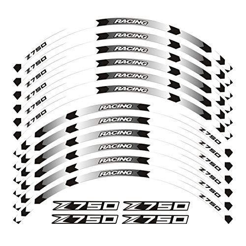 Fuerte Etiqueta de Motocicleta Pegatina Frente Rueda Trasera Calcomanías Reflectantes Pegatinas Impermeables Stripas de llanta para Z750 Z 750 Atractivo (Color : 230087)