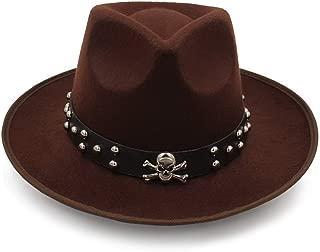 HongJie Hou 2018 New Women Wool Fedoras With Metal Ring Wide Brim Panama Hat Winter Warm Jazz Caps Elegant Lady Church Hat Sombrero