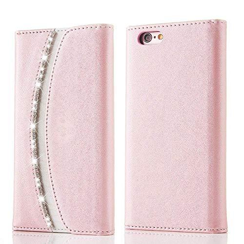 WHBDJ Funda Tipo Cartera para iPhone XR X XS 11 Pro MAX Funda de Cuero con Tapa para teléfono Mujer para iPhone 6S 6 7 8 Plus 5 5S SE, Oro Rosa, para iPhone 11 Pro