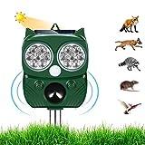 Repellente per Gatti,Ultrasuoni Piccioni,IP66 Impermeabile, ad Energia Solare e con...