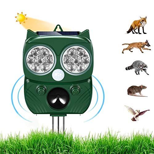 Repellente per Gatti,Ultrasuoni Piccioni,IP66 Impermeabile, ad Energia Solare e con Fequenza Regolabile...