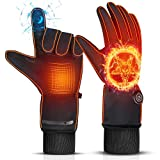Electric Heated Gloves for Men and Women,THIROOME 8H Working Hours Rechargeable Battery Gloves, Waterproof Winter Gloves Hand Warmer Glove Liners for Climbing Hiking Cycling Hunting Motorcycle