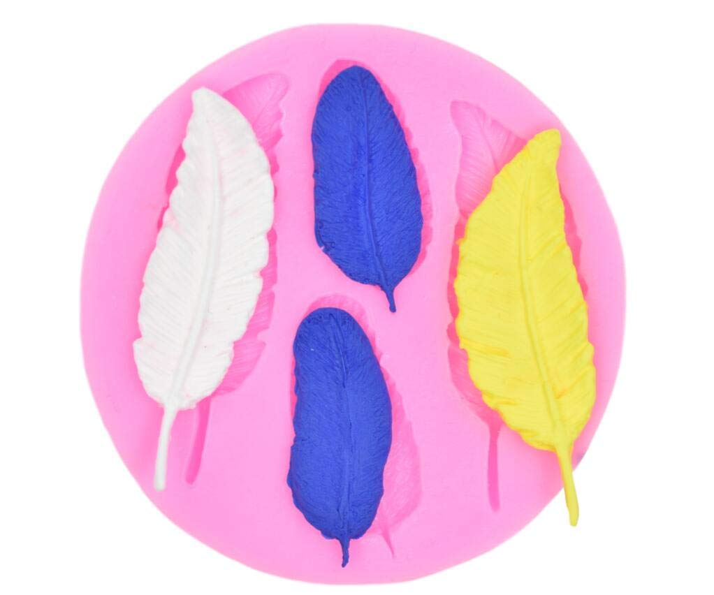 Feather Pattern Silicone Cake Decorating Mold for Sugarcraft,Chocolate,Fondant,Resin,Polymer Clay,Soap Making