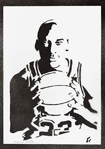 Michael Jordan Poster Plakat Handmade Graffiti Street Art - Artwork