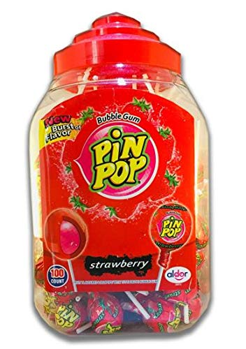 Pin Pop STRAWBERRY Bubbleknots Lolly's (100)