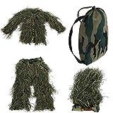 Uniforme de camuflaje para niños Traje de invisibilidad de la selva Ejército de camuflaje Francotirador Ropa militar Caza en la selva, Fotografía de vida silvestre, Halloween(Jungle camouflage)