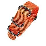 24mm cinturino in nylon balistico arancione nato cinturino dell'orologio cinturini in nylon regolabili fibbia in acciaio inossidabile