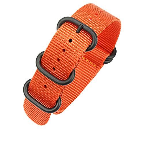 22mm Cinturino per orologio in nylon balistico arancione nato Cinturino...