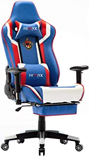 Ficmax Massage Gaming Chair High Back Gamer Chair for E-Sports, Ergonomic Home Office..
