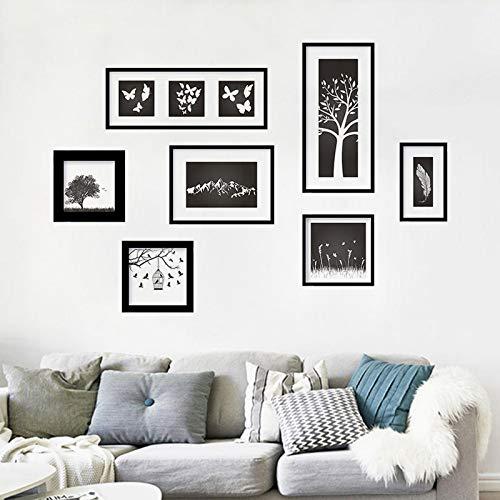 Kreative Schlafzimmer Wandaufkleber Kunst Fotorahmen Wohnzimmer Hintergrund Tapeten selbstklebende Persönlichkeit Schlafsaal Raumdekoration Aufkleber 60X90cm