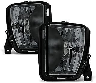 For 2013-2018 Dodge RAM 1500 Smoked Fog Driving Light with Bulbs Assemblies Pair Set