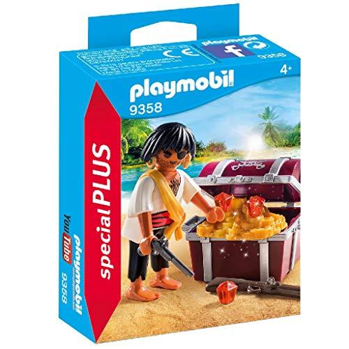 PLAYMOBIL- Pirata con Cofre del Tesoro Juguete