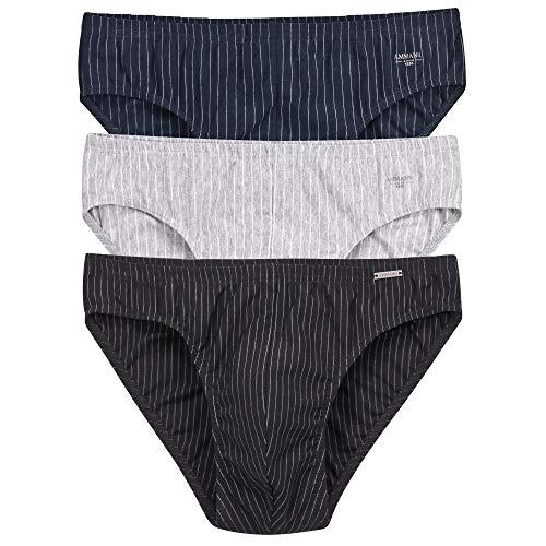 Ammann 3er Pack Slips ohne Eingriff, Unterhosen, Unterwäsche, Mini Slips, Neu (8 / (XXL))